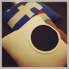Almofadas das redes sociais