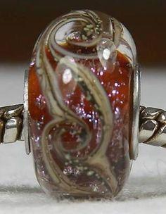 TOPAZ SWIRL Authentic Handmade SS Core European Lampwork Glass Beads JS SRA