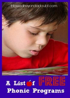 FREE Phonics Curriculums!  You will want to bookmark this page.