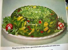 ugh, it's the 1950's any and everyone are making the most disgusting jello dishes for every potluck and church luncheon