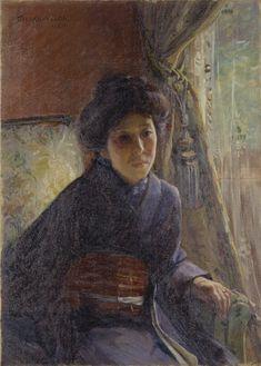 File:Portrait of Mrs H by Wada Eisaku (Tokyo National Museum). Gabriel, Jules Cheret, National Museum, Portrait, Tokyo, Mona Lisa, Artwork, Painting, Wikimedia Commons