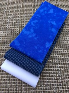 Mini Fabric Jelly Roll- 6 Strip Pack- Blue, White