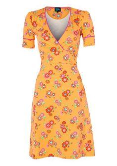 Køb Tante Betsy kjole POPPY orange online hos Denckerdeluxe.dk