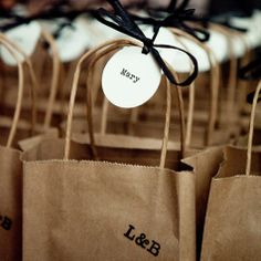 Brown Paper Bag Favors / The Knot