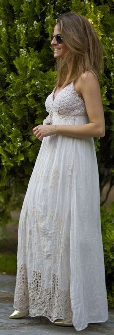 Maxi Embroidered Dress Summer Style by Oh my Looks
