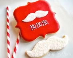 12 Days of Cookies: Santa Mustache Cookes by Lizy B