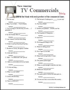 This TV Commercials Trivia game will certainly test the memory.