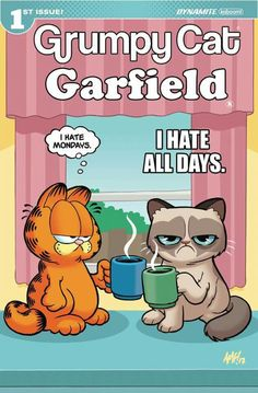 Grumpy Cat and Garfield