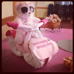 Diaper motor cycle ! It's a girl!
