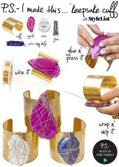 P.S.- I made this...Keepsake Cuff with @StyleList #PSIMADETHIS #DIY #PRETTYSAVVY #STYLELIST Check out the how-to video here: http://www.stylelist.com/watch/turn-a-summer-memory-into-a-statement-piece/