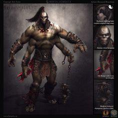 ArtStation - Concept Art: Mortal Kombat X- Goro, Bernard Beneteau
