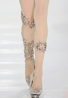 walkingthruafog:  Bejeweled stockings