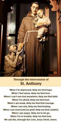 This St. Anthony, Infant Jesus, and Beggar scene is located in the St. Francis cathedral in Santa Fe, NM