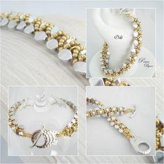 *P Schéma/pattern bracelet ODE (français & anglais) expliqué étape par étape,explain step by step