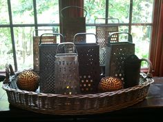 Collection of old graters.