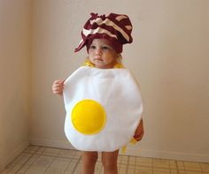 Baby Costume Toddler Costume Halloween Costume Egg With Bacon by Jen Grantham