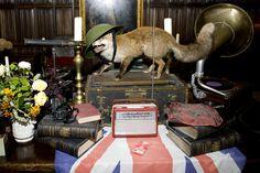 Athelhampton House, Dorset. Mr Fox, star of a 1940s theme party at www.athelhampton.co.uk