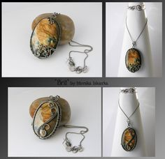 Brit- wire wrapped 2side pendant by mea00 on DeviantArt