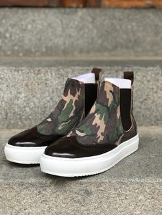 Short Boots, Brogues, Design Your Own, Calf Leather, Camouflage, Vans, Slip On, Stylish, Brown