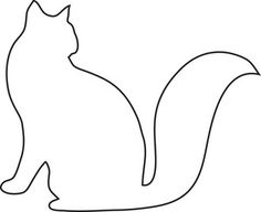 Cat Clipart Image - Outline of a Kitty Cat Dog Coloring Page, Colouring Pages, Adult Coloring Pages, Cat Outline, Outline Drawings, Quilting Templates, Applique Templates, Pyrography Designs, Cat Template