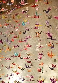 Vibrant Artistic Wedding Details In Chicago 1000 Cranes1000 Paper CranesJapanese DecorationOrigami