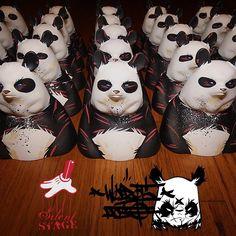 """Angry Woebots """"Gazer"""" Panda Bust"""