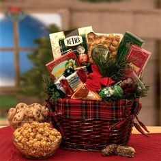 A cozy fire crackles and Old Man Winter is blustering. But, here in this old fashioned gift basket warm and cozy treats await. Send your friends and family An Old Fashioned Christmas in a traditional