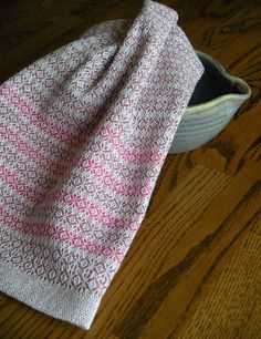 Handwoven Tea Towel Handwoven Dish Towel by ThistleRoseWeaving