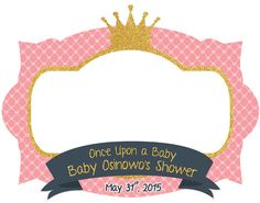 photo frame photo booth prop baby shower printable frame for babies