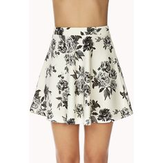 Forever 21 Dainty Floral Skirt ($15) ❤ liked on Polyvore featuring skirts, bottoms, floral circle skirt, forever 21, forever 21 skirts, elastic waistband skirt and elastic waist circle skirt