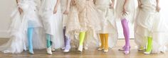 bridal show- brides had a blast of color with these tights!