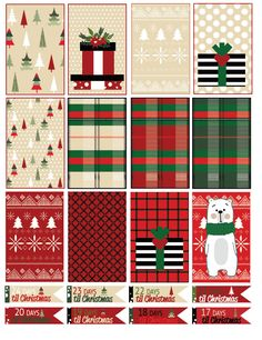 Christmas planning~ BIG Holiday Planner Full Boxes DIY Printable Stickers for Big Vertical Happy Planner