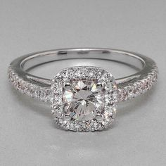 1.39 tcw Round Cut Diamond Engagement Ring Live Video Enclosed. #SolitairewithAccents
