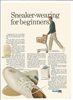 1967 Ked's Sneakers Advertisement Sneaker Wearing For Beginners Mens Shoes Footwear 60s Fashion Wall Art Decor