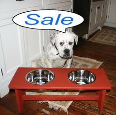 We got bowls. We got ways to elevate bowls. And we got ways to support American Bulldog Rescue.