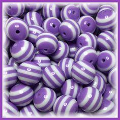 Chunky beads necklace, chunky beads jewelry, chunky beads diy, chunky beads fashion, bubblegum beads DIY, gumball beads DIY. Bubblegum Bead, Gumball beads, Bubblegum bead striped Gumball beads 20mm Gum by Urbancitysupplies