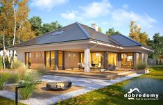 Beautiful House Plans, Beautiful Homes, Modern Small House Design, Bungalow House Plans, Home Design Plans, Minimalist Home, Future House, Planer, New Homes