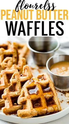 These FLOURLESS PEANUT BUTTER WAFFLES are not only easy to make, but also protein rich! All you need are a few healthy ingredients and they turn out light, fluffy, dairy free, and delicious! Freezable for breakfast meal prep or on simple grab and go! Best Breakfast Recipes, Brunch Recipes, Baby Food Recipes, Breakfast Ideas, Mexican Breakfast, Crepe Recipes, Peanut Butter Waffles, Peanut Butter Recipes, Almond Flour Waffles
