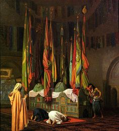 Jean-Leon Gerome (Jean Leon Gerome) The Tomb of Hazrat Imam Hisain Allahis Salam Oil on canvas Private collection Norman Rockwell, Jean Leon, Web Gallery Of Art, Alex Colville, Academic Art, Pics Art, Art Database, Oil Painting Reproductions, Mondrian
