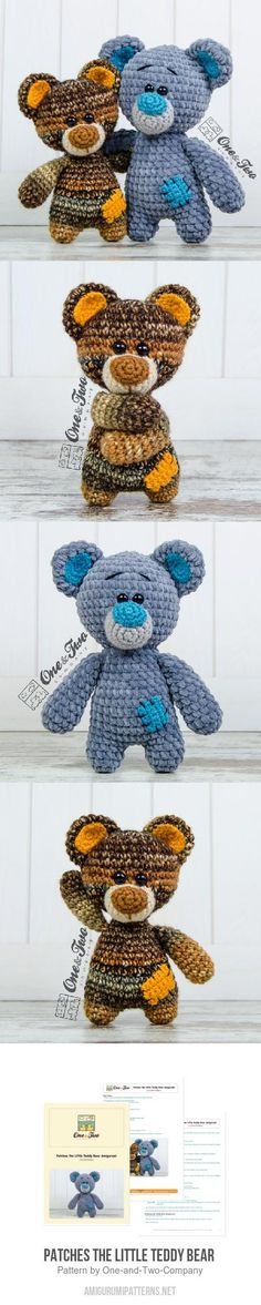 Patches the Little Teddy Bear amigurumi pattern