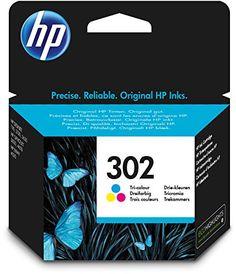 cool HP 302 F6U65AE - Cartucho de tinta para impresoras (4 ml), tri-color