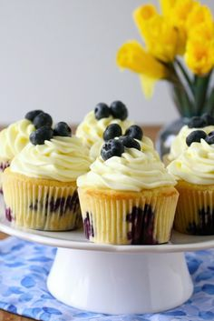 Bridal shower lemon blueberry cupcakes