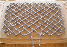 Pegboard weaving