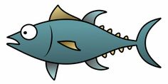 Easy cartoon tuna that you can draw using this fun tutorial.