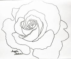 Rose Traceable Coloring Sheet by Angela Anderson