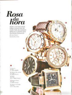 Rosa da hora  Acerte os ponteiros com o novo tom de ouro das caixas e para as pulseiras dos relógios femininos – matéria Você SA #FicaDica
