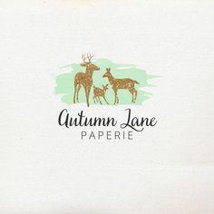 Pre-Made Logo  Premade Logo  Deer Logo  by AutumnLanePaperie