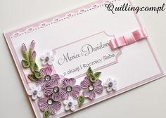 Papierowa Rocznica Ślubu - quilling, greeting card, handmade card