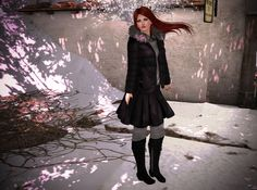 :: B O D Y :: Hair –Tableau Vivant \\ Starry Night \\ Blowing – RAREThe Arcade :: C L O T H I N G :: Outfit - LAVIAN - AW1516 - Essentials Still Sitting Winter Trend Boots – REIGNScarlett Boots...