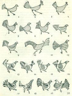 KOGUT ROOSTER Patterns of Europe Poland Easter Eggs Slavic Wzornictwo Lubelszczyzny na pisankach